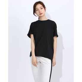 レディース フィットネス 半袖Tシャツ HIGH GAUGE S/S TEE DC70308 (ブラック)
