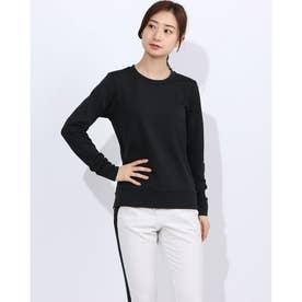 レディース フィットネス 長袖Tシャツ ADAJ WARM L/S TOP DA50110 (ブラック)