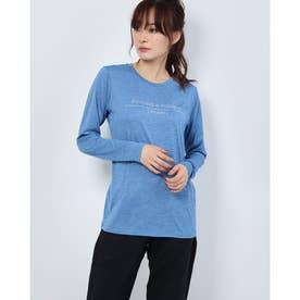 レディース フィットネス 長袖Tシャツ HEATHER L/S TEE DC70315 (ブルー)
