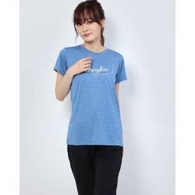 レディース フィットネス 半袖Tシャツ HEATHER GRAPHIC T DC70313 (ブルー)