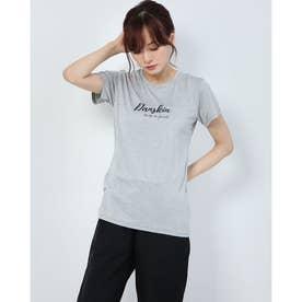 レディース フィットネス 半袖Tシャツ HEATHER GRAPHIC T DC70313 (グレー)