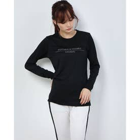 レディース フィットネス 長袖Tシャツ HEATHER L/S TEE DC70315 (ブラック)