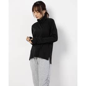 レディース フィットネス 長袖Tシャツ WARM COMFORT TNECK DC50325 (ブラック)