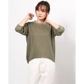 レディース フィットネス 半袖Tシャツ THERMAL 3/4 TEE DMF521106 (イエロー)