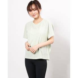 レディース フィットネス 半袖Tシャツ HYBVENTULLE COVER DC721109 (グリーン)