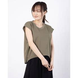 レディース フィットネス 半袖Tシャツ THERMAL FREN SLEVE DMF521107 (イエロー)