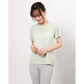 レディース フィットネス 半袖Tシャツ DRYMIX MESH TEE DC721111 (グリーン)