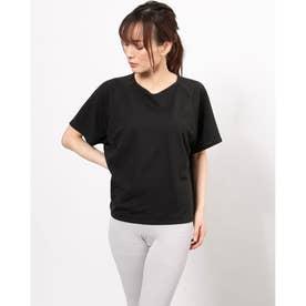 レディース フィットネス 半袖Tシャツ HYBVENTULLE COVER DC721109 (ブラック)