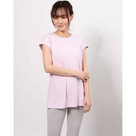 レディース フィットネス 半袖Tシャツ LOGO FRENCH TEE DC721126 (ピンク)