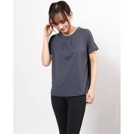 レディース フィットネス 半袖Tシャツ TUCKED WIDE TEE DC721123 (ネイビー)