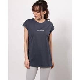 レディース フィットネス 半袖Tシャツ LOGO FRENCH TEE DC721126 (ネイビー)