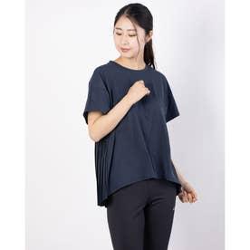 レディース フィットネス 半袖Tシャツ BACK PLEATED TEE DC521116 (ネイビー)