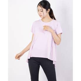 レディース フィットネス 半袖Tシャツ DRYMIX HYBRID TEE DC721112 (ピンク)