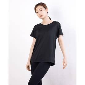 レディース フィットネス 半袖Tシャツ ADAJ LIGHT TEE DA721102 (ブラック)