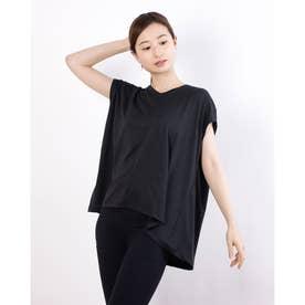 レディース フィットネス 半袖Tシャツ ADAJ LIGHT SLEEV-T DA721103 (ブラック)