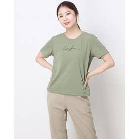 レディース フィットネス 半袖Tシャツ ICECOMFY GRAPHIC-T DC521110 (イエロー)