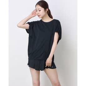 レディース フィットネス 半袖Tシャツ ICE COMFY BIG TOP DC521111 (ブラック)