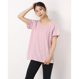 レディース フィットネス 半袖Tシャツ ADAJ LIGHT TEE(オールデイアクティブライトショートスリーブティー) DA721102 (ピンク)