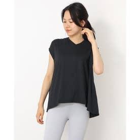 レディース フィットネス 半袖Tシャツ ADAJ LIGHT FLARE T(オールデイアクティブライトフレアスリーブティー) DA721103 (ブラック)
