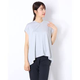 レディース フィットネス 半袖Tシャツ ADAJ LIGHT FLARE T(オールデイアクティブライトフレアスリーブティー) DA721103 (グレー)