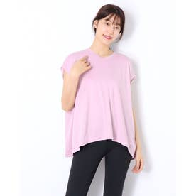 レディース フィットネス 半袖Tシャツ ADAJ LIGHT FLARE T(オールデイアクティブライトフレアスリーブティー) DA721103 (ピンク)