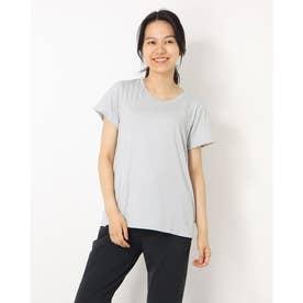 レディース フィットネス 半袖Tシャツ ADAJ LIGHT TEE(オールデイアクティブライトショートスリーブティー) DA721102 (グレー)