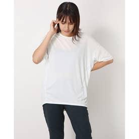 レディース フィットネス 半袖Tシャツ HEATHER D BIG TEE(ヘザードライビッグティー) DC721304 (ホワイト)