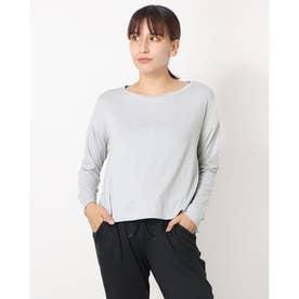 レディース フィットネス 長袖Tシャツ ADAJ LIGHT L/S TEE(オールデイアクティブライトロングスリーブティー) DA721300 (グレー)