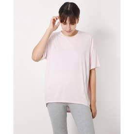 レディース フィットネス 半袖Tシャツ HEATHER D BIG TEE(ヘザードライビッグティー) DC721304 (ピンク)