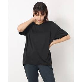 レディース フィットネス 半袖Tシャツ HEATHER D BIG TEE(ヘザードライビッグティー) DC721304 (ブラック)