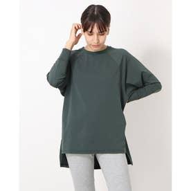 レディース フィットネス 長袖Tシャツ HIGH LINE L/S TEE(ハイラインロングスリーブティー) DA721301 (グリーン)