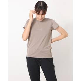 レディース フィットネス 半袖Tシャツ LOGO TEE(ロゴティー) DMF70100 (グレー)