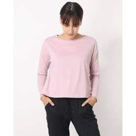 レディース フィットネス 長袖Tシャツ ADAJ LIGHT L/S TEE(オールデイアクティブライトロングスリーブティー) DA721300 (ピンク)