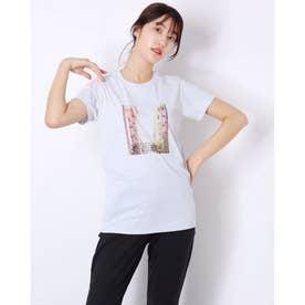 レディース フィットネス 半袖Tシャツ PHOTO PRINT TEE(フォトプリントティー) DC721312 (グレー)
