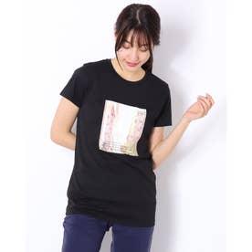 レディース フィットネス 半袖Tシャツ PHOTO PRINT TEE(フォトプリントティー) DC721312 (ブラック)