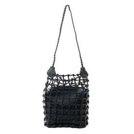 アミアミショルダーカラフルバッグ(ブラック)