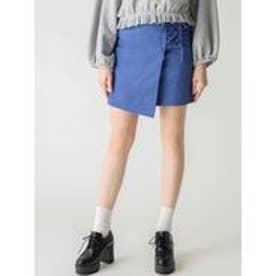 【S】コンパクトラップスカート(ブルー)