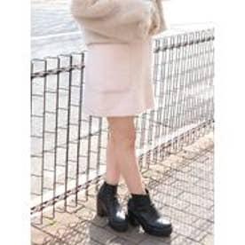【sw】ビックポケットシャギーミニスカート(ピンク)