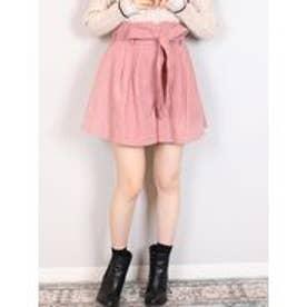 【sw】リボン付コーデュロイショートパンツ(ピンク)