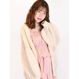 【S】フレンチギンガムトップス(ピンク)