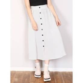 フロントボタンマキシスカート オフホワイト