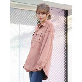 フェイクスエードCPOシャツ(ピンク)