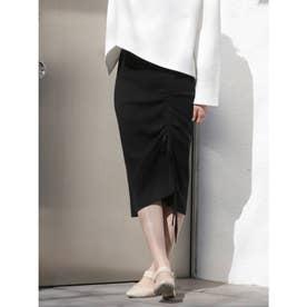 ドロストデザインタイトスカート(ブラック)