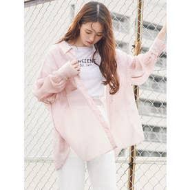 シャインカラーリラックスシャツ(ピンク)