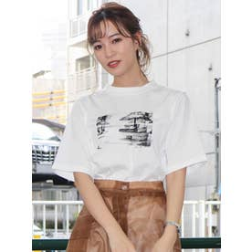 BEACH VIEWフォトTシャツ(オフホワイト)