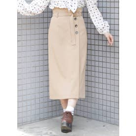【S】フロントタックタイトスカート(ジャンスカ2way) (BGE)