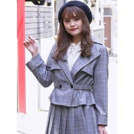 【S】ショートトレンチジャケット (GRY)