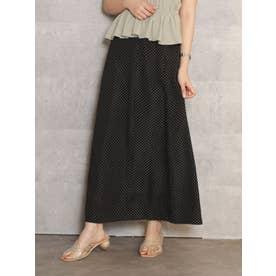 ハイウエストナロースカート(ブラック)