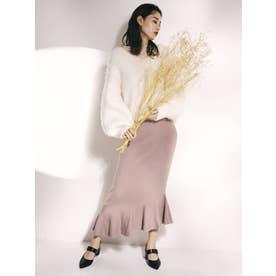 【ゆきりぬ×dazzlin】フリルラインマーメイドニットスカート(ブラウン)