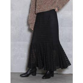 レースロングマーメイドスカート(ブラック)
